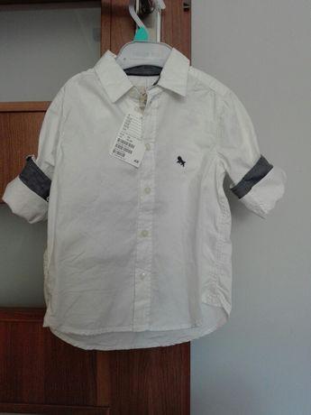 Koszula H&M 92 biala chłopiec