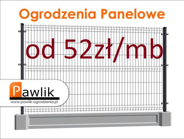 Ogrodzenie Panelowe PKL 153cm z podmurówka Panele Ogrodzeniowe