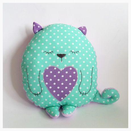 Poduszka Dekoracyjna Kot Kotek Hand Made Rękodzieło Przytulanka