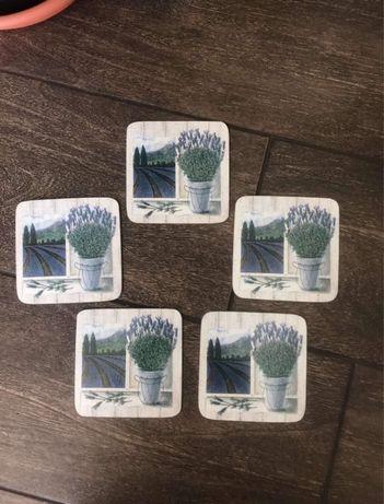 Австрийский набор сервировочных подставок подстаканников стакан чашка