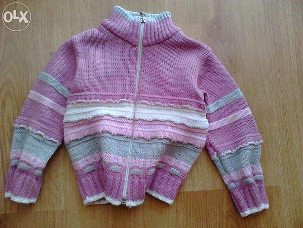 Sweter fioletowy na zamek - rozmiar 68