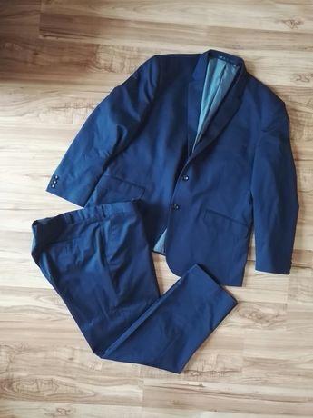 Garnitur niebieski granatowy marynarka spodnie Jan Kowalski 170/102