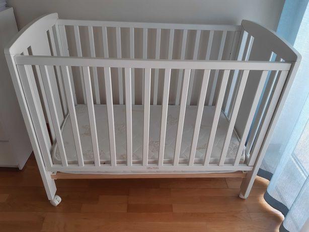 Berço/cama grades com colchão viscoelastico 60×120 Trama