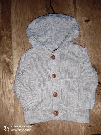 Bluza, sweter, sweterek na guziki,rozmiar 9-12 miesięcy firmy Gap