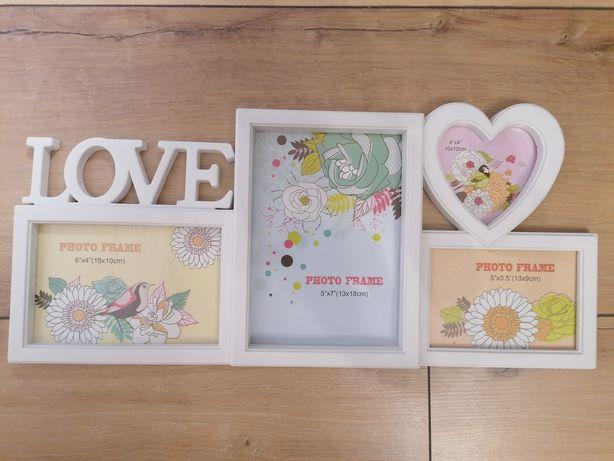 Фоторамка на 4 фото  Love