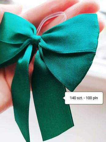 140 sztuk Kokardki na wódkę butelkowa zieleń dekoracje weselne