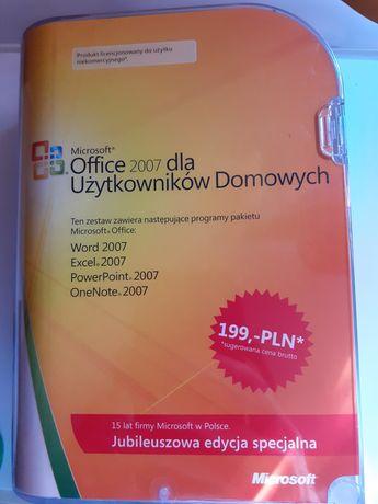 Office 2007 dla użytkowników domowych na 3 komputery