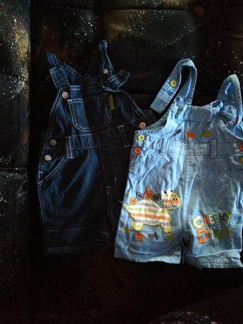 Ogrodniczki materiałowe spodnie dziecięce niemowlęce 74 i 80
