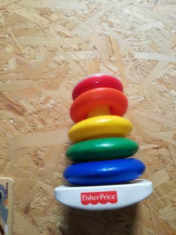 Fisher-Price, piramidka z kółek, zabawka niemowlęca