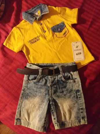 Костюм джинсовый с футболками