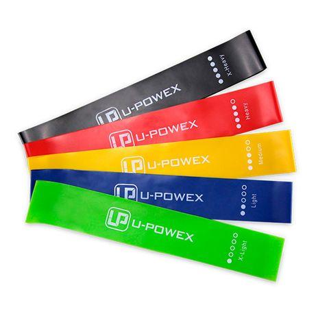 Набор фитнес резинок для фитнеса U-Powex из 5 лент и чехла. Оригинал!
