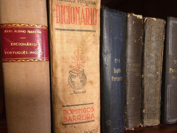 6 Dicionários antigos, de Português e de Português -Inglês e Inglês-Po