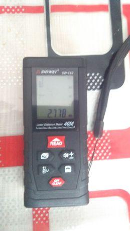 Дальномер лазерный; лазерная рулетка до 40м SNDWAY SW-T4S