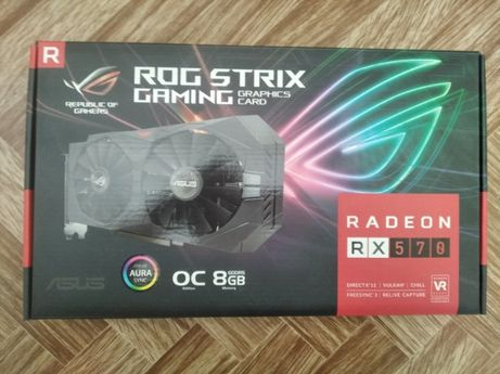 Видеокарта Asus Radeon RX570 ROG Strix Gaming 8GB