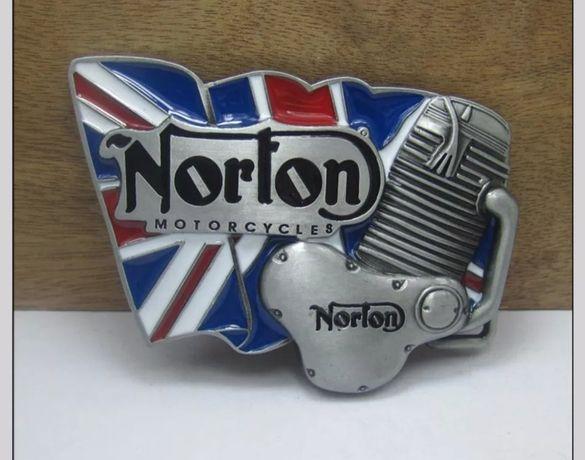 Klamra paska motocyklowa NORTON (BSA HARLEY INDIAN HONDA)