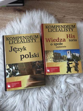 Kompendium licealisty jezyk polski historia wos matura