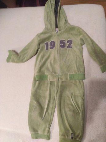 Komplet dres rozmiar 92 zielony do żłobka do przedszkola spodnie