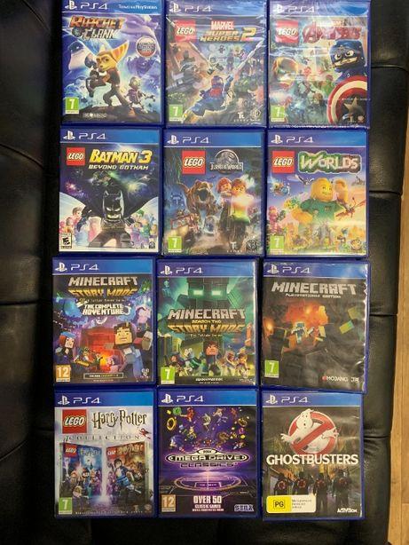 Lego Minecraft Ratchet Sega Marvel Harry Potter Sony ps4 диск