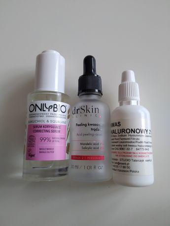 Onlybio serum bakuchiol Dr Skin clinic peeling kwasowy hialuronowy