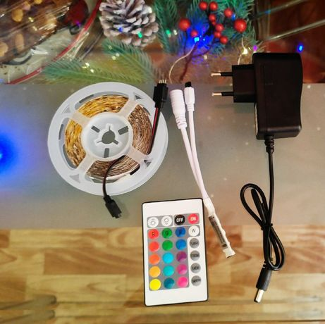 Светодиодная RGB led лента комплект