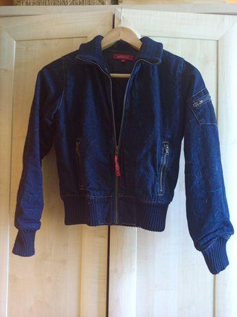 Wyjątkowa kurtka jeansowa marki CHEMISTRY, wzór na plecach
