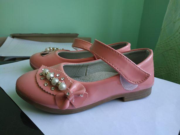 Продам туфельки кораллового цвета, 27 размер