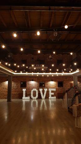 Wolne terminy 2021! Napis świetlny led LOVE nie zakłóca filmu! wesele