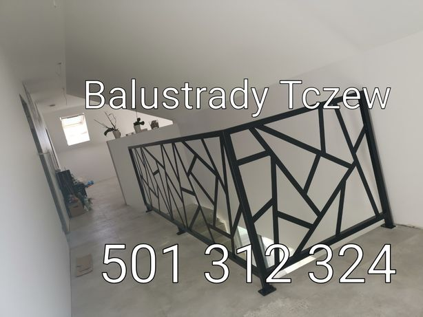 Balustrada nowoczesna loft industrial Gda/Tczew balustrady wewnętrzne