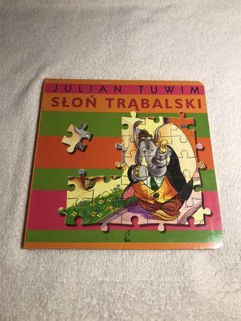 Książka Słoń Trąbalski 2w1 z układankami, puzzle