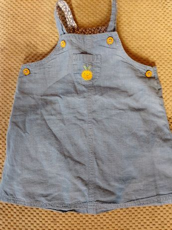 Sukienka jeansowa 6-9msc