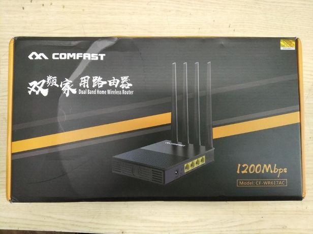Мощный двухдиапазонный wi-fi роутер Comfast CF-WR617AC