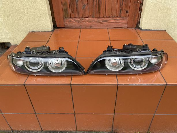 Lampy xenon bmw e39 lift Nowe klosze odblysniki regulatory