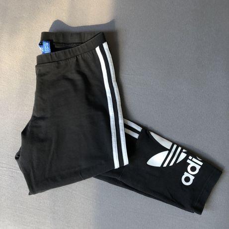 Legginsy Adidas Originals 36 38 S M czarne paski logo