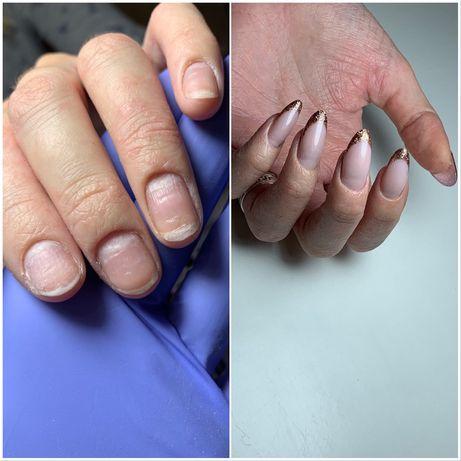 Наращивание ногтей, гель лак, восточный