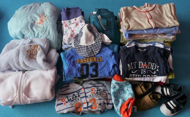 WYPRZEDAŻ Ubranka dla niemowlaka 3-6MC + gratisy/ Mega paka dla chłopa