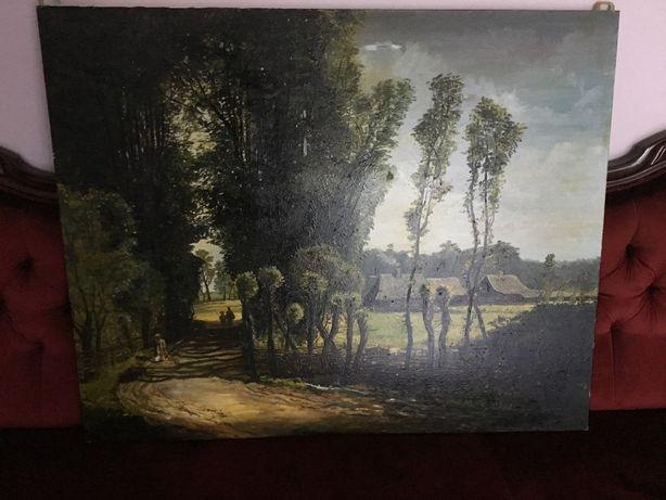 """Obraz olejny Józef Szermentowski, """"Droga do wsi"""" (kopia)"""