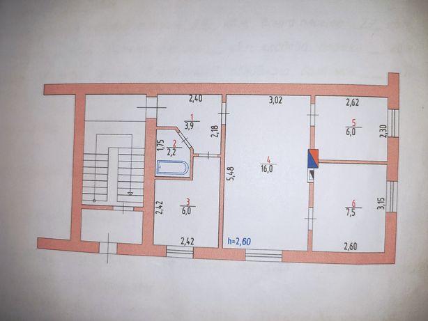 3-х кімнатна квартира, в центрі Летичева.