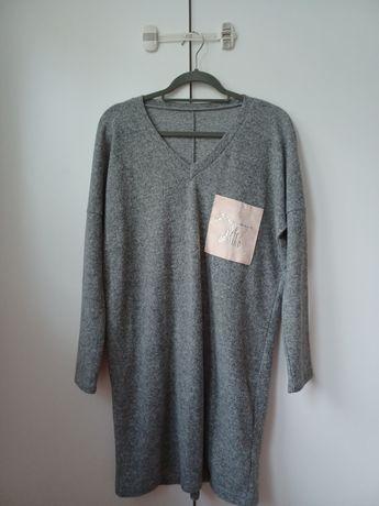 Piękna sukienka sweterkowa M/L 38/40