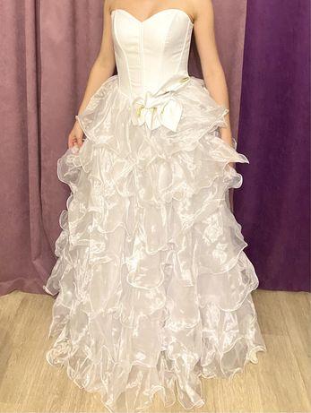 Белое Свадебное платье Лилия