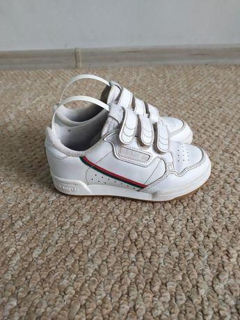 Белые кроссовки Adidas 28 р, кросовки на липучке на мальчика