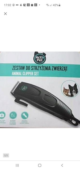 Zestaw do strzyżenia zwierząt psa kota Czaniec - image 1