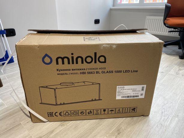 Вытяжка полновстраемая Minola HBI 5663 BL Glass 1000 LED Line