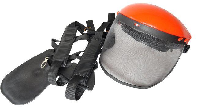 Zestaw maska ochronna + szelki do kosa spalinowa (ZES28)