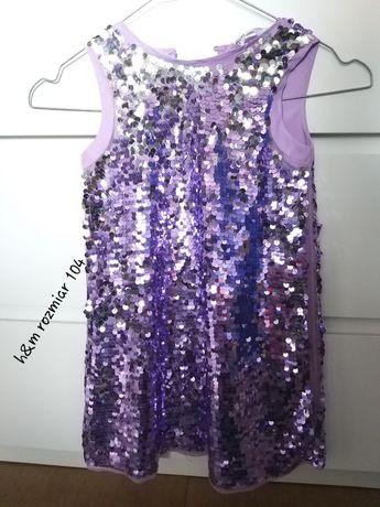 Sukienka cekinowa 4-5 lat