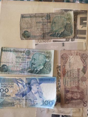 Notas 100, 50, 20 escudos
