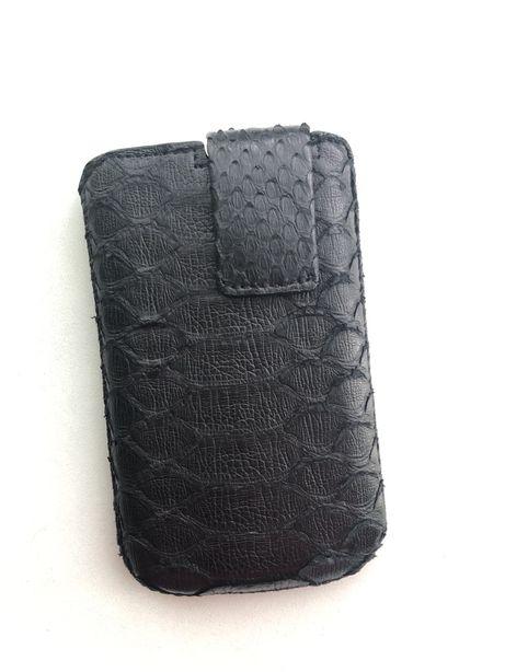 Чохол універсал для телефона Елітна натуральна шкіра пітона Чорний