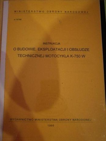 Instrukcja i katalog K750, M72, Ural, Dniepr