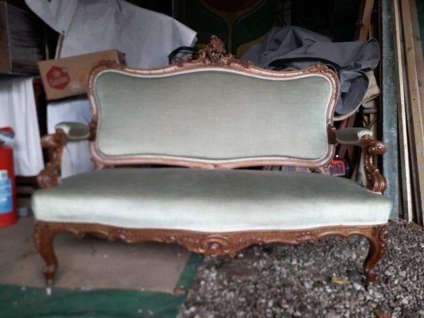 Sofa dwuosobowa na sprężynach antyk