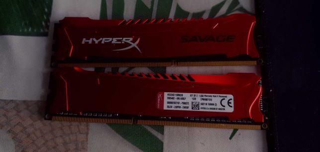 Pamięć HyperX Savage, DDR3, 8 GB, 2400MHz, CL11 (HX324C11SRK2/8)
