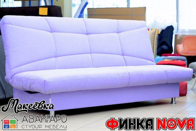"""Раскладной велюровый диван с коробом в гостиную / спальню """"Финка NOVA"""""""